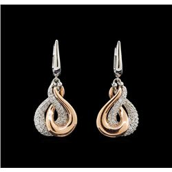 14KT Two-Tone Gold 0.53 ctw Diamond Earrings