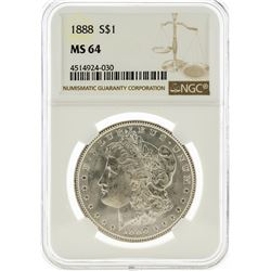 1888 NGC MS64 Morgan Silver Dollar