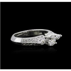 18KT White Gold 1.04 ctw Diamond Ring