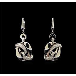 14KT White Gold 0.63 ctw Diamond Earrings