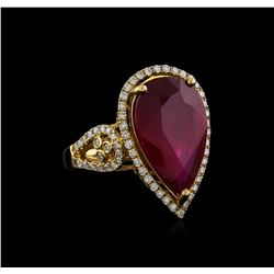 14KT Yellow Gold 8.67 ctw Ruby and Diamond Ring