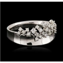 14KT White Gold 0.38 ctw Diamond Ring