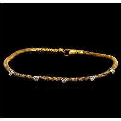 0.30 ctw Diamond Bangle Bracelet - 14KT Rose Gold