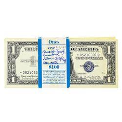 Original 1957B $1 Star Note Silver Certificate Pack of 100