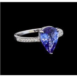 18KT White Gold 3.52 ctw Tanzanite and Diamond Ring