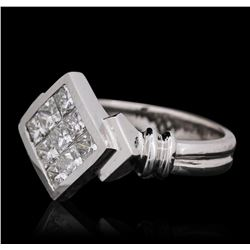 14KT White Gold 0.95 ctw Diamond Ring
