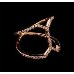 0.28 ctw Diamond Ring - 14KT Rose Gold