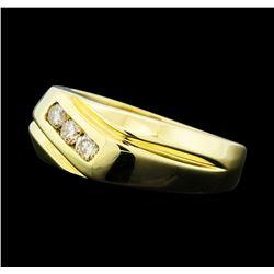 0.28 ctw Diamond Three Stone Ring - 14KT Yellow Gold