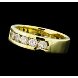 0.80 ctw Diamond 1-Row Band - 14KT Yellow Gold