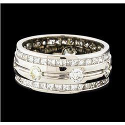 3.70 ctw Diamond Eternity Ring - 14KT White Gold