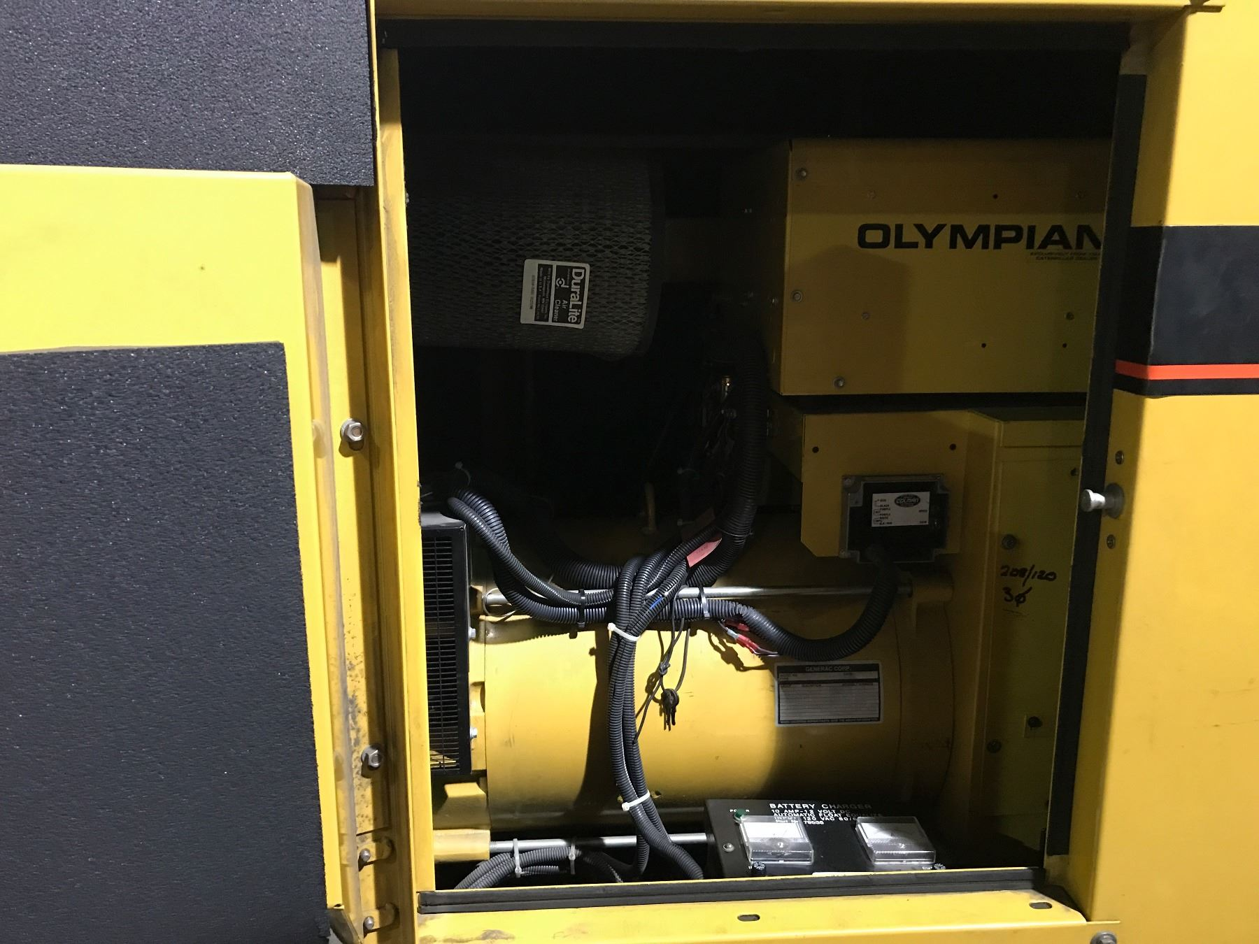 OLYMPIAN 70 KW EMERGENCY STANDBY DIESEL GENERATOR WITH 225