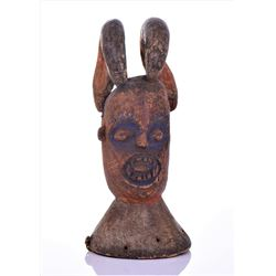 African Igbo Headdress Carved From Wood With