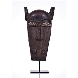 African Baule Wood Mask, Ivory Coast. Legend