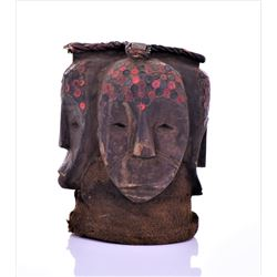 Fang Four-Faced Helmet Mask (ngontang), Gabon