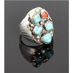BAH, Native American Blue Turquoise And Red C