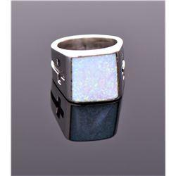 Chimney Butte, Fire Opal Sterling Silver Ring