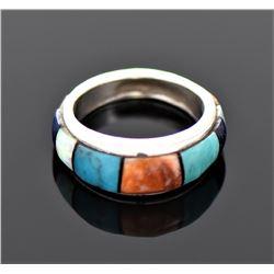 Native American Multi Stone Sterling Silver R