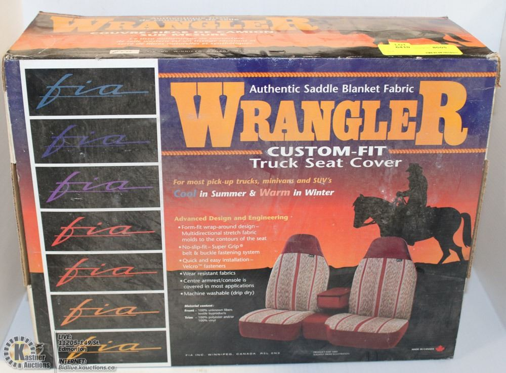 wrangler custom fit truck seat cover saddle back