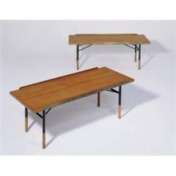 Wondrous Finn Juhl Pair Of Rare Benches Or Tables Ca 1952 Pabps2019 Chair Design Images Pabps2019Com