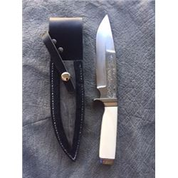 Custom knife made of steel from the World Trade Center