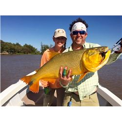 High volume dove shooting and golden dorado fishing in Argentina for 4 hunters (4 days)