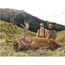 Red stag hunt for two hunters in Canterbury, New Zealand (4 days)