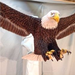 American Bald Eagle in Flight Wood Carving