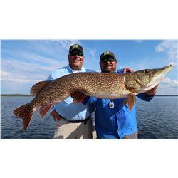 Fishing trip for 2 anglers to Wollaston Lake Lodge in Saskatchewan, Canada (4 days)