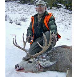 2018 Montana Mule Deer Hunt for one (1) hunter