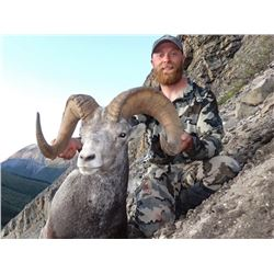 14-Day Stone Sheep Horseback Hunt at Full Curl Stone Northern British Columbia for (1) Hunter