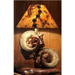 Alaska Dall Sheep - Hand Made Lamp