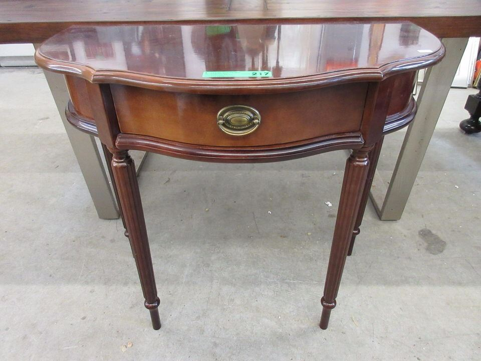 Bombay Company Half Moon Table With Drawer