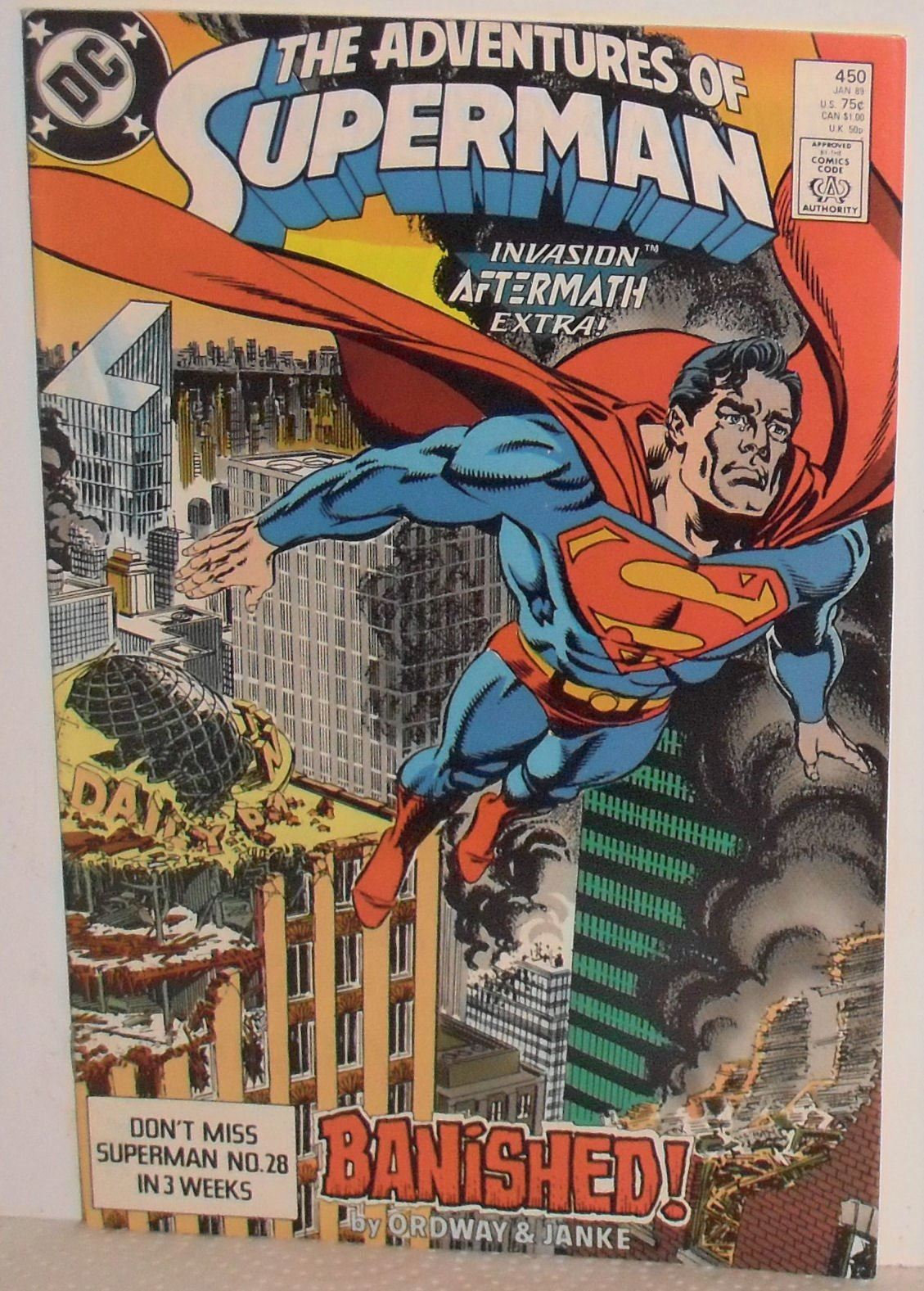 Seing His Parents Flying Drawings Comic Book Printed In Usa Superman 450 1989 Bande Dessinee