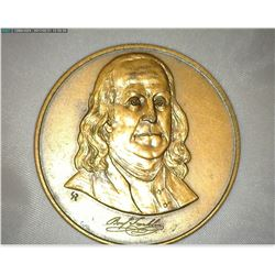 """The Franklin Mint Collector's Society 1980"", Bronze, 44mm, Brown AU."