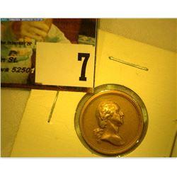 Civil War Era George Washington/Abraham Lincoln Bronze Medalet,19mm, rd, BU.