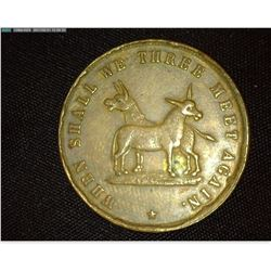 """""""When Shall We Three Meet Again"""", """"Applegate's Palace of Flying Animals"""" Hard Times Token, NJ AC-3,"""