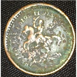 "Civil War Token depicting Soldier on Horse, reverse ""Our Union""."