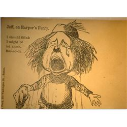 "Old Revoultionary War Cover ""Jeff, on Harper's Ferry. I should think I might Be let alone. Boo-oo-oh"