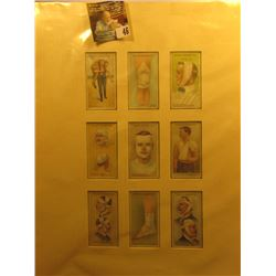 "Matted and ready for framing set of 9 different ""Will's ""First Aid"" Bristol & London Cigarette Cards"