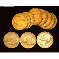 (3) 1947 P VF & (8) 1948 D Jefferson Nickels, VF-AU.