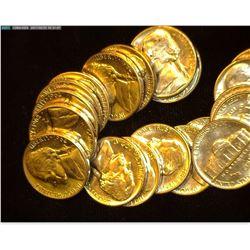 (20) 1962 D Jefferson Nickels, Brilliant Uncirculated.