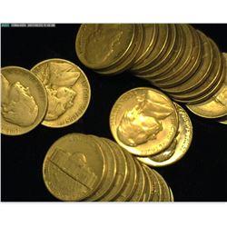 (9) 1938P circ., (2) 38D circ., (1) 1951S circ., (12) 52P circ., (2) 54S BU Jefferson Nickels.