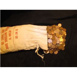 (2,000) Mixed date and Grade U.S. Wheat Back designed Lincoln Cents in a cloth money bag.