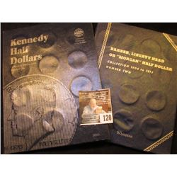 Empty Kennedy Half Dollar Folder for 1964-1985 & Barber…Half Dollar Book 1904-1915, Both empty.