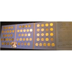 1938-61 Partial Set of Jefferson Nickels in a blue Whitman folder. Missing only the overdate, 1939S,