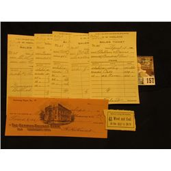 Five Different Sales Tickets  For Use in 20th Century Bookkeeping and Office Practice ;  Business Co