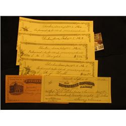 """Incoming Paper No. 21 Citizens Bank of Anita, Iowa""; Clinton, Iowa 1898 College Scrip depicting Geo"