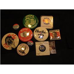 Large group of various Political Pin-backs, Poiltical Cards, & etc.