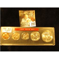 1954 Various Mint Mark Gem BU Year Set in a plastic Snaptight case. 5 pcs.