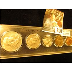 1949 Various Mint Mark Year Set in a plastic Snaptight case. (5 pcs.).